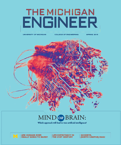 Spring 2015 cover of The Michigan Engineer magazine.