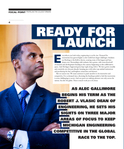 Ready for launch magazine spread