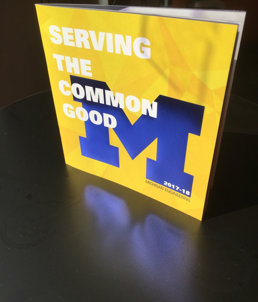 The 2018 Michigan Engineering Profile cover